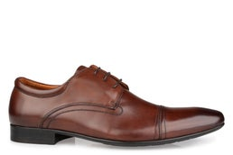 Cage Leather Lace-up Dress Shoe