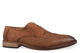 Racoon Leather Lace-up Brogue Shoe